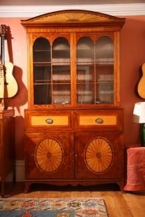 secretaire bookcase restored