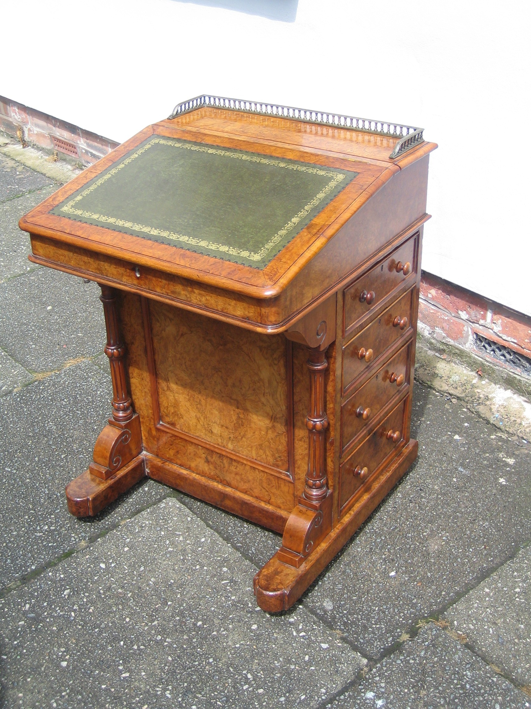 davenport writing desk Lot: a victorian walnut davenport writing desk, lot number: 0002, starting bid: $200, auctioneer: quinn's auction galleries, auction: fine & decorative arts auction, date: september 15th, 2013 pdt.